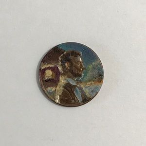 US coin Oil Painting President Lincoln Artwork